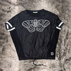 Desigual Moth Mesh Overlay Top